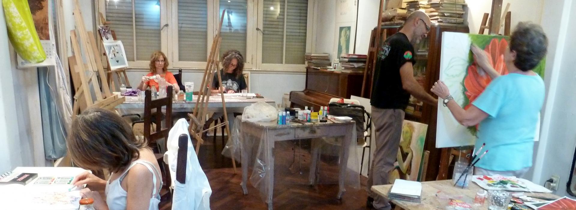 Slide Taller de dibujo y pintura
