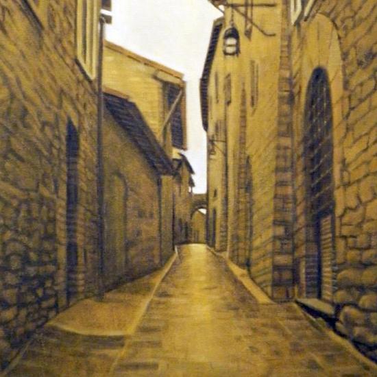 De la serie Assisi - Strada II