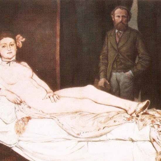 Manet y la Olympia posan para ieger